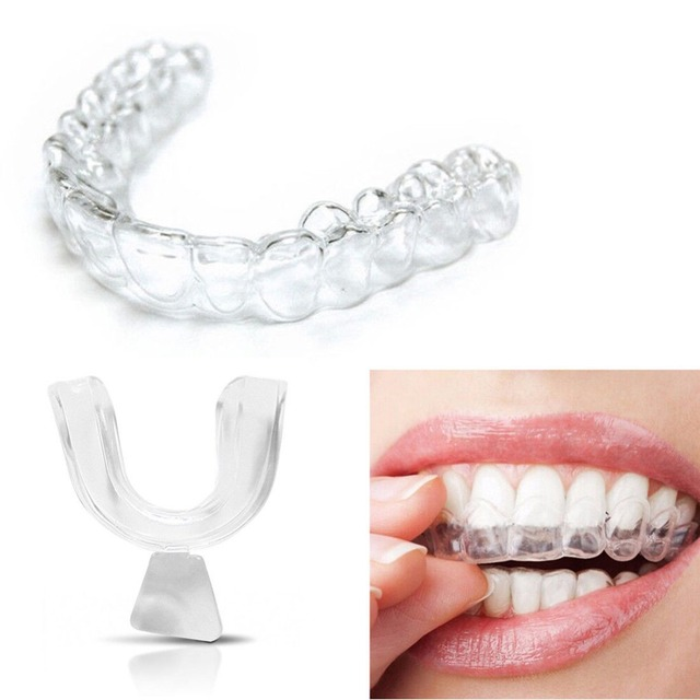 Pro 4pcs Silicone Night Mouth Guard for Teeth Clenching Grinding Dental Bite Sleep Aid Whitening Teeth Mouth Tray