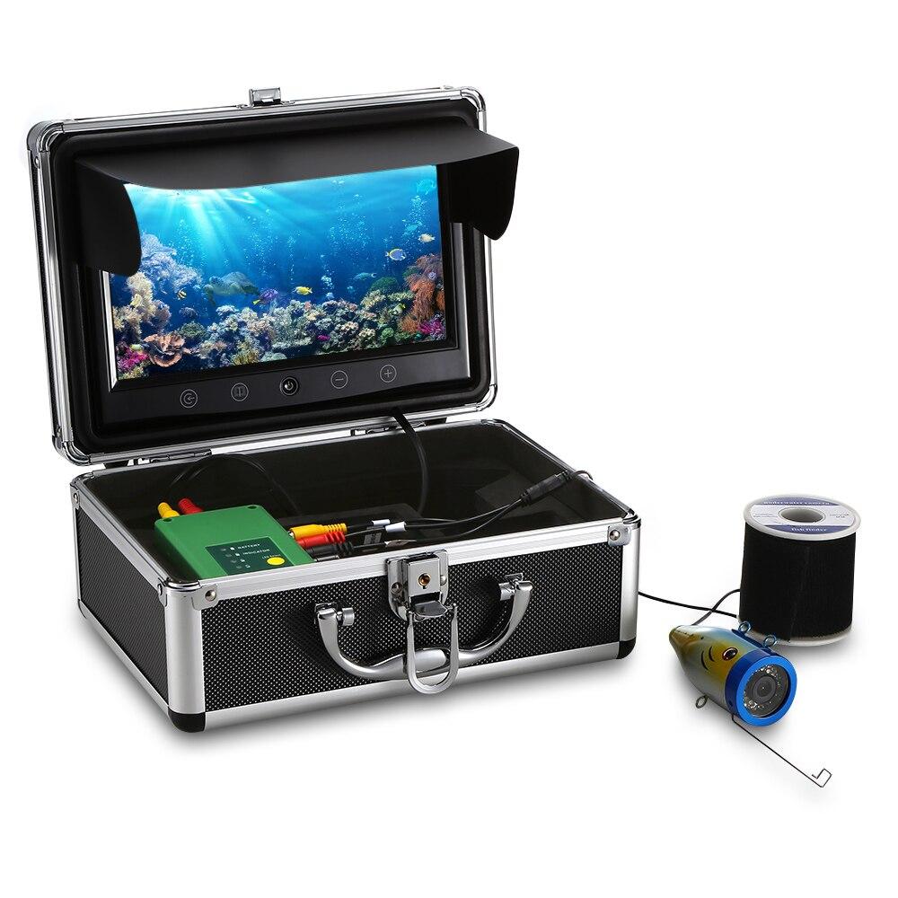 9 pouces Moniteur 15 M 1000TVL Fish Finder Sous-Marine Pêche Caméra 15 pcs blanc Led 15 pcs Infrarouge Lampes Lac rivière Océan De Pêche