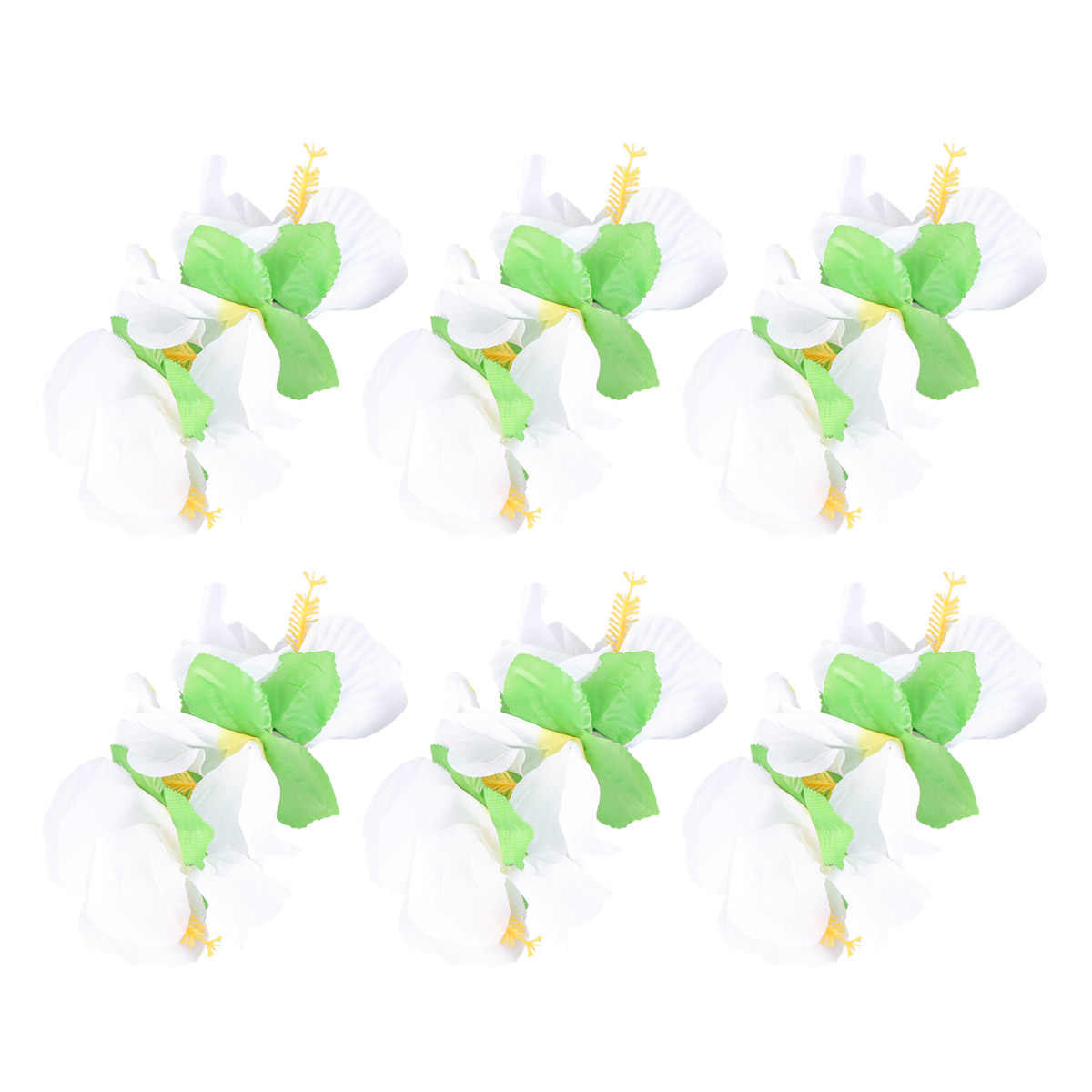 6 шт. Гавайские цветы заколки для волос Свадебная заколка тропический пляж свадебный цветок гибискуса женские вечерние Заколки шпилька аксессуары