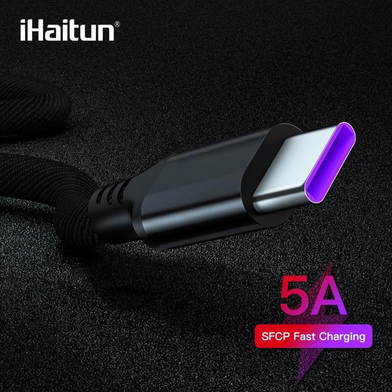 IHaitun 5A Typ C Kabel Für Huawei Mate 20 Pro 10 P20 Ehre Kabel USB 3.1 Schnelle Daten Aufzurüsten USB C lade Ladegerät Draht Kabel