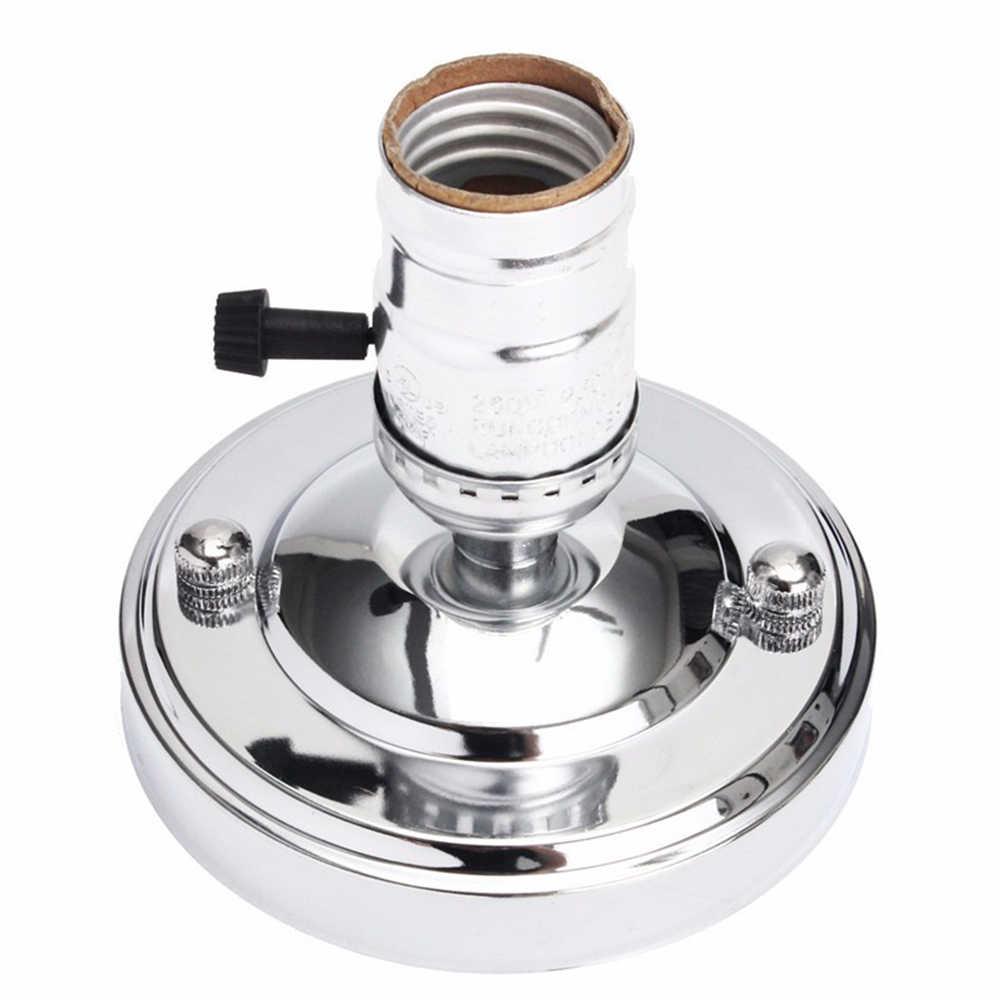 E26 E27 Base Stand Type Aluminum Ceiling Screw Light Retro Vintage Lamp Holder Socket Holder Antique