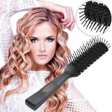 1pc Professional Anti-Static Hair Comb Brush Black Ribs Hairbrush Massage Comb Salon Hair Care Styling Tool 1pc big bamboo anti static hair comb wood pad comb teeth human massage hair brush bamboo charcoal comb teeth hairbrush d20