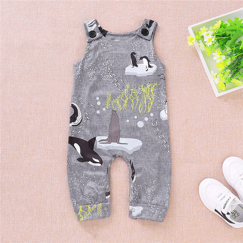 Antarctic Ocean World Penguin Toddler Baby Girl Boys   Romper   Jumpsuit Outfits Clothes Set 0-18M