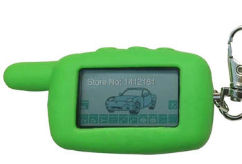 Russian A9 LCD Remote Control +Silicone Key Case For Keychain Starline A9/A6 KGB FX-5 FX5 FX 5 2 Way Two Way Car Alarm System