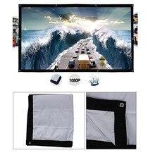 Портативный HD 1080P мягкий экран для проектора матовый белый 4:3 экран для проектора ткань для фильмов 60 72 84 100 120 150 дюйма для домашнего кинотеатра