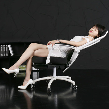 Comfortable reclining office household computer chair ergonomic luxurious boss chair 150/170 degree lying gaming chair seat luxurious and comfortable office chair at the boss computer chair flat multifunction chair capable of rotating and lifting