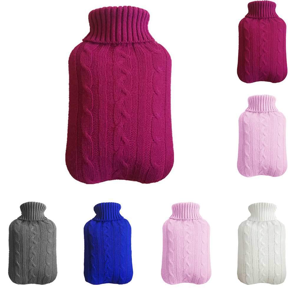 2000ml Warm Protective Heat Preservation Cover Safe Hot Water Bottle Removable Knitted Cold-proof Washable Large Winter