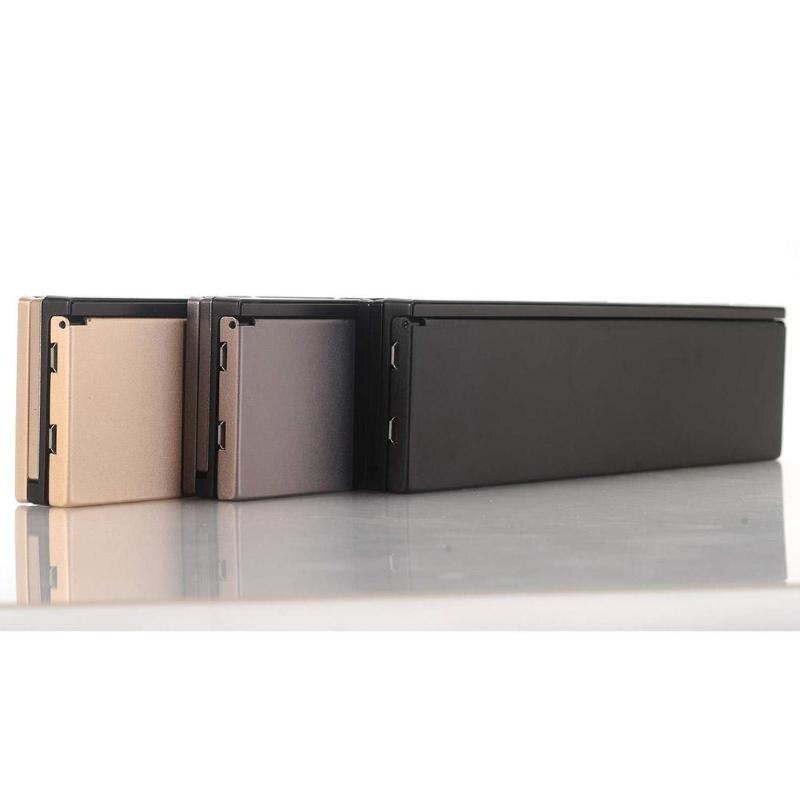 Triple clavier Bluetooth sans fil pliant pour iOS/Android téléphone/tablette PC