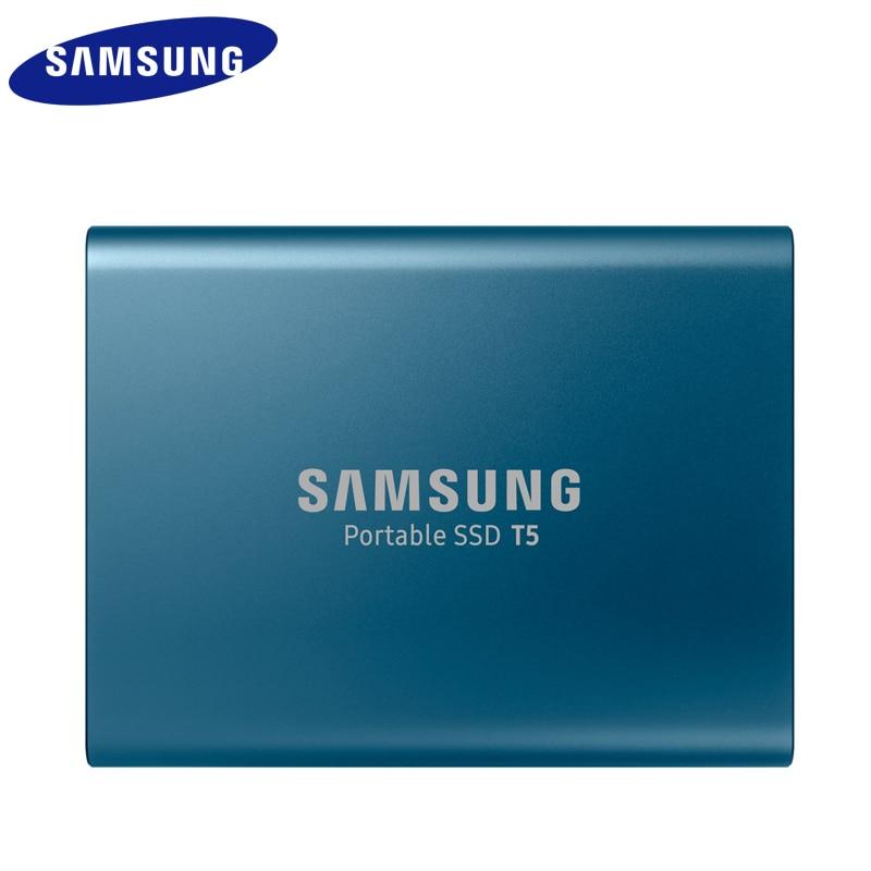 Samsung SSD Externe T5 250 go 500g 1T 2T Externe Semi Hd Disque dur Usb 3.1 Gen2 (10 gbit/s) Et Rétrocompatible Pour PC - 3