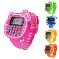 Новая мода дизайн детский Калькулятор Смотреть детей цифровой светодиодные часы силиконовые спортивные часы