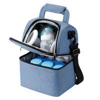 Bolsa de almacenamiento de leche materna bolsa de enfriador de botella multifunción bolsa de momia bolsas de refrigeración para el cuidado del bebé mamá de los niños y los niños
