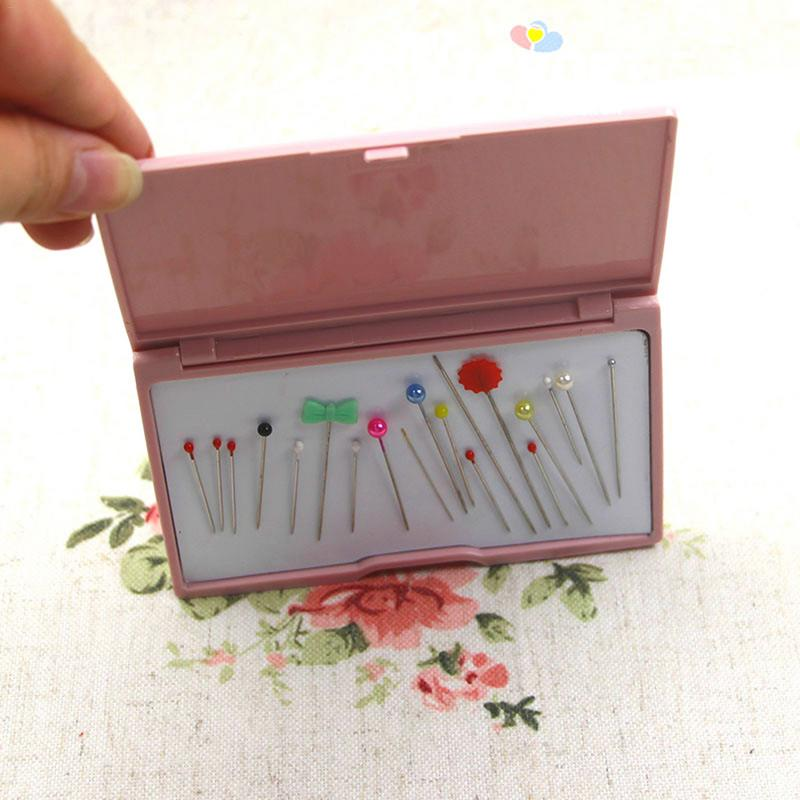Pink Bead Needle Storage Case Magnetic Needle Holder Box Useful Manual DIY Tools Suction Needle Storage Boxes PET+PE 20