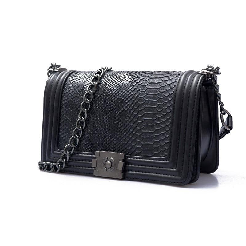 Clutch Purse Chain Crossbody-Bag Serpentine Handbag Leather Flap Shoulder Bags For Designer