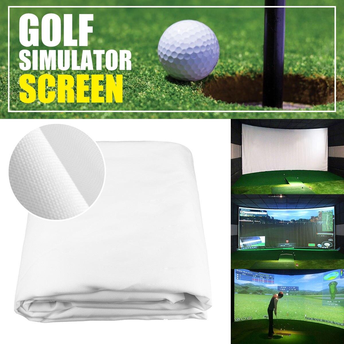 300*200 CM simulateur de balle de Golf Impact affichage écran de Projection intérieur tissu blanc matériel