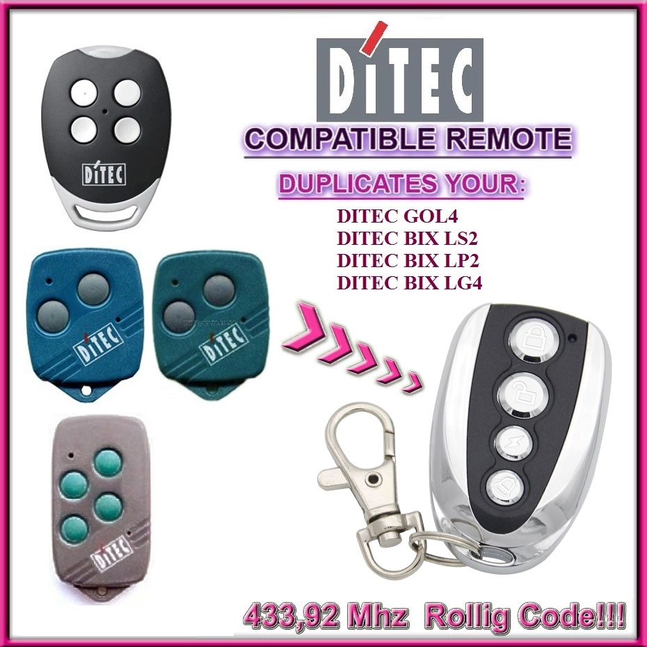 Clone 433,92mhz Ditec Gol4 Bixlp2 Remote Control Latest Collection Of Ditec Gol4 Ditec Bixlp2 Compatible Remote Control Transmitter