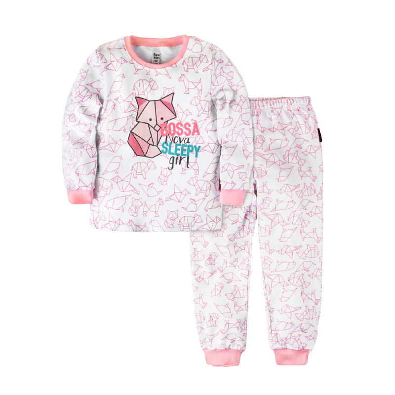 Pajama set shirt+pants for girls BOSSA NOVA 356o-371r pajama pants and jumper friends 3 8g 95% cotton 5% elastane