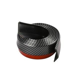 Image 4 - Samochód uniwersalny przedni spojler zderzaka z włókna węglowego gumowy Splitter podbródek Spoiler boczna dokładka gumowy Anti Scratch Protector Body Kit Trim