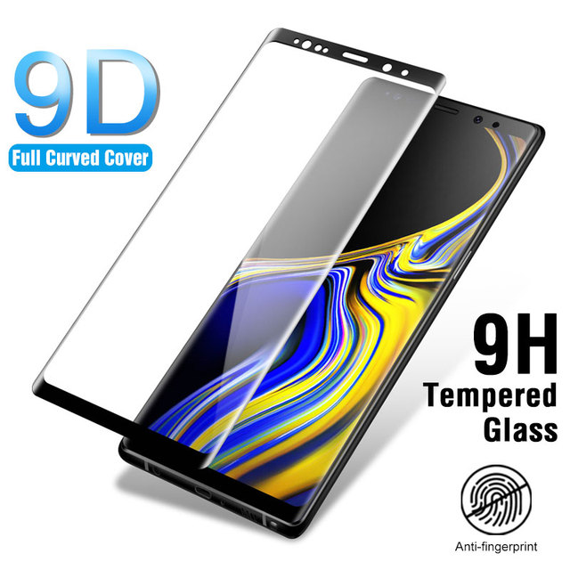 Tempered Glass For Samsung Galaxy Note 9 Note 8 Full Curved Screen Protector On For Samsung Note 9 8 Protective Film Cover Case