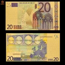 Патриотизм сувенирные банкноты 24 К Золото Банкноты евро валюта 20 евро Реплика Позолоченные банкноты коллекция денег