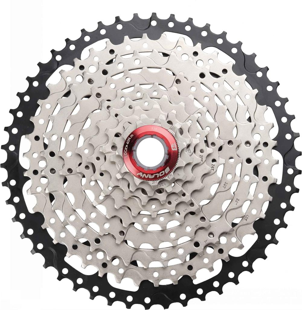 HOT-BOLANY MTB Freewheel 11-50T Mountain Bikes Cassette 9 18 27 Speed Aluminum Alloy Bicycle Sprockets AccessoriesHOT-BOLANY MTB Freewheel 11-50T Mountain Bikes Cassette 9 18 27 Speed Aluminum Alloy Bicycle Sprockets Accessories