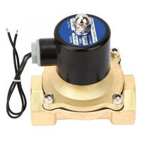DN32 Brass Normally Closed Electric Solenoid Valve For Water Oil Gas DC24V Solenoid Valve