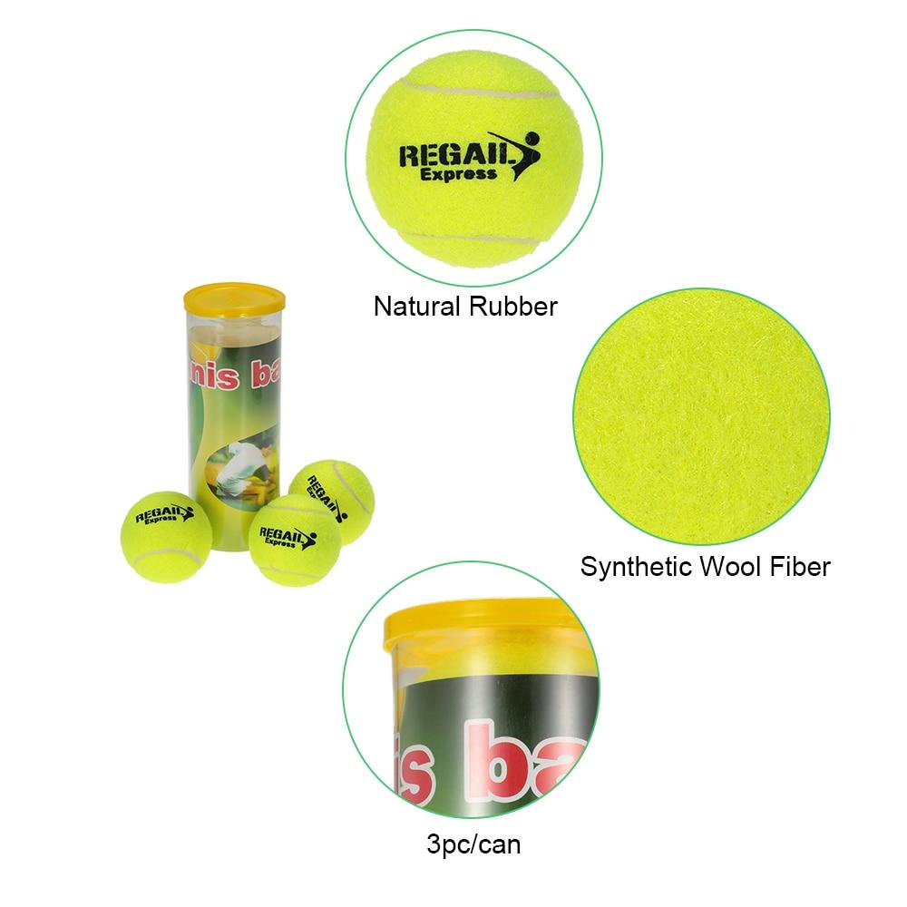 3PCS/Can Outdoor Sports Tennis Training Balls Tennis Training Ball Practice High Resilience Training Durable Tennis Balls