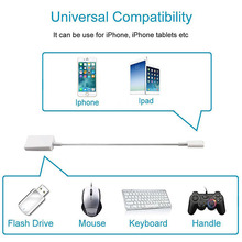Otg USB To Camera Adapter For Apple Interface USB Cable Earphones Converter Electric Piano Sound Card For Iphone 7 8 Ios12 Ada