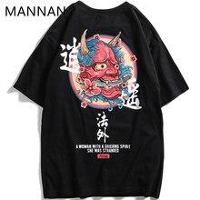 MANNAN japonés Streetwear urbano de manga corta estilo T Harajuku Hip Hop  algodón Casual Tops camisetas de los hombres de gran t. ee5f122f1aa