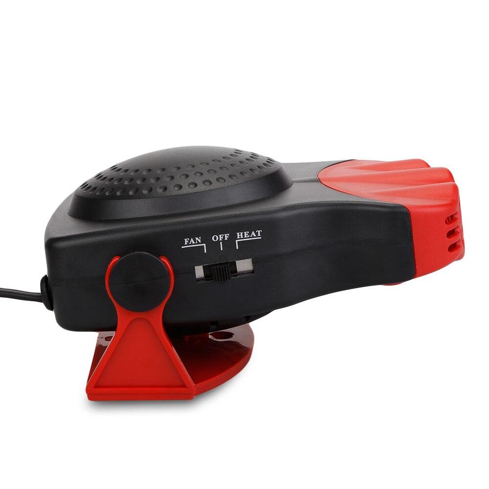 12 V 12 V 150 W 4 en 1 portátil Auto de calefacción del calentador de ventilador de refrigeración con 3 salidas de aire parabrisas ventana demister Defroster de 180 grados