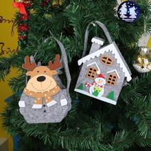 Christmas Candy Gift Holder Portable Felt Kid Handbag Treat Bag Xmas Ho