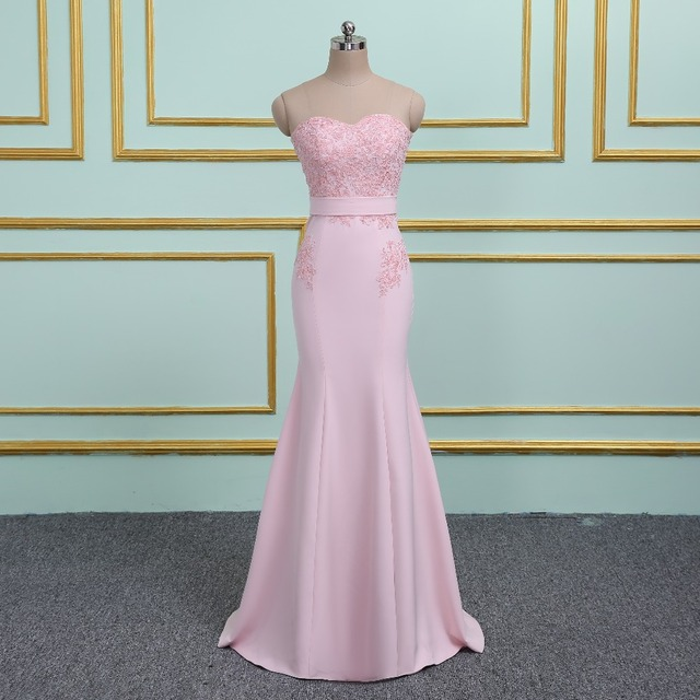 Pink Long Mermaid Prom Dresses 2019 Robe de Soiree Off the Shoulder Sweetheart Lace Beaded Formal Evening Party Gowns