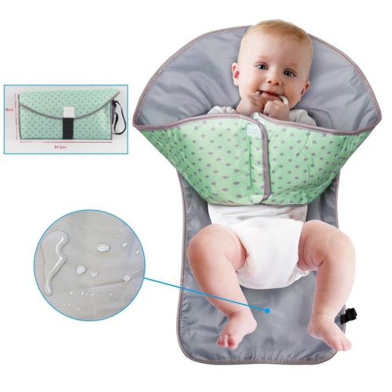 Infant Baby Nappy Bag Diaper Changing  Pad Foldable Urine Mat Waterproof Cushion