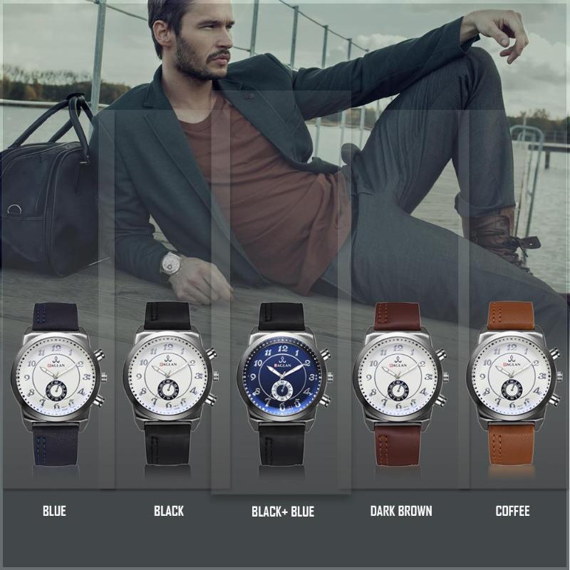 Business Men Watch PU Leather Band Classic Digital Analog Quartz WristwatchBusiness Men Watch PU Leather Band Classic Digital Analog Quartz Wristwatch