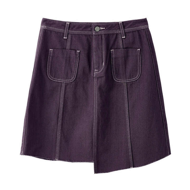אינמן קיץ הגעה חדשה גבוהה מותן Slim קוריאני אופנה מזדמן תלמיד סגנון כל מתאים נשים קצר ג 'ינס חצאית