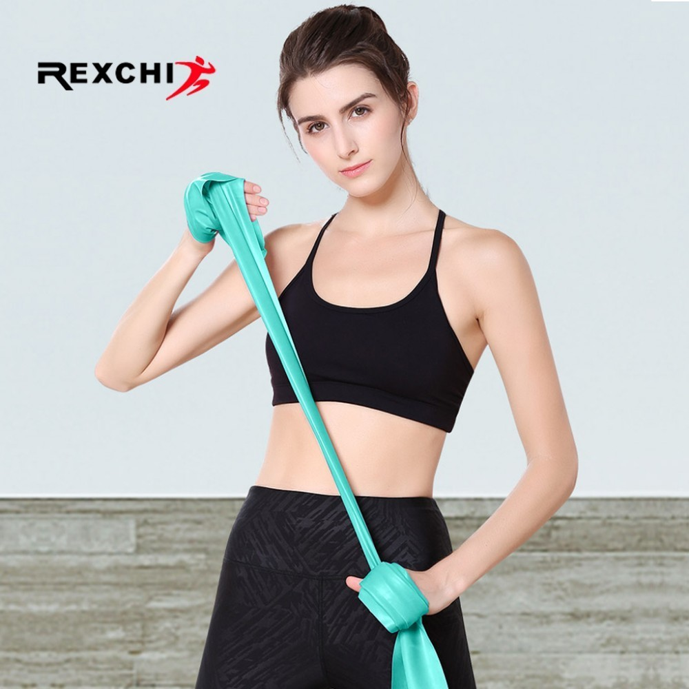 REXCHI Elastic Yoga Resistance Bands Natural Latex Gym Fitness Crossfit Loop Bodybulding Exercise Workout Training Equipment