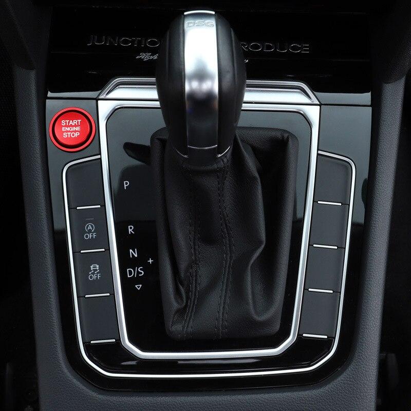 2 шт., накладка на кольцо для запуска двигателя автомобиля, из алюминиевого сплава, для VW Jetta MK7 Magotan Passat B8 CC Touran