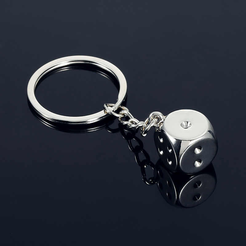 Sale 1pc Cute Keychain Trinket Metal Funny Sieve Dice Basketball Piano Personality Creative Car Key Ring