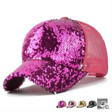 2019Glitter Ponytail Baseball Cap Messy Bun Dad Hats For Women Sequins Shine Summer Mesh Trucker Hat Snapback Hip Hop Caps ponytail baseball cap men cotton retro baseball cap women baseball hat adjustable snapback caps dad hats messy mesh trucker hat