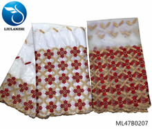 LIULANZHI white bazin fabric embroidery brocade fabrics 2019 african riche geznter 7 yards/lot ML47B02