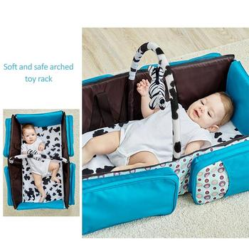 Fashion Multi-function portable Travel Bed Cradle Cot For Newborns Changing Diapers Mummy Pack Bag Newborns Baby Crib