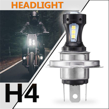 1pc Headlight brand new and high quality H4 6500K 12V 18SMD 3030 LED Hi-Lo Beam Headlight Lamp Bulb for most motorcycles for victory motorcycles headlight head light led headlamp hi lo high low lamp 6500k for victory cross country motorcycle