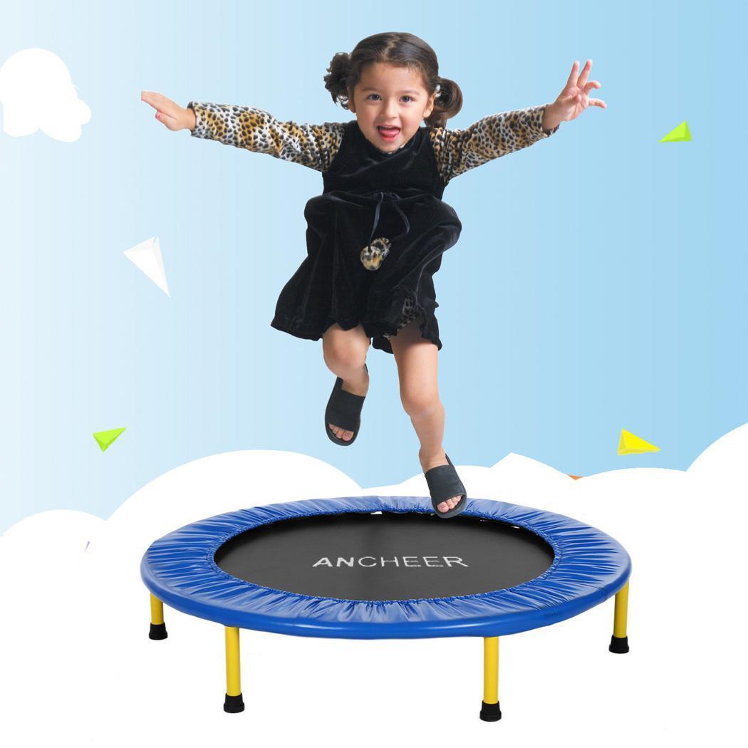 Poignée de couverture de cadre rembourrée de Trampoline sûre de Construction Durable pliable portative de Mini Trampoline d'enfants