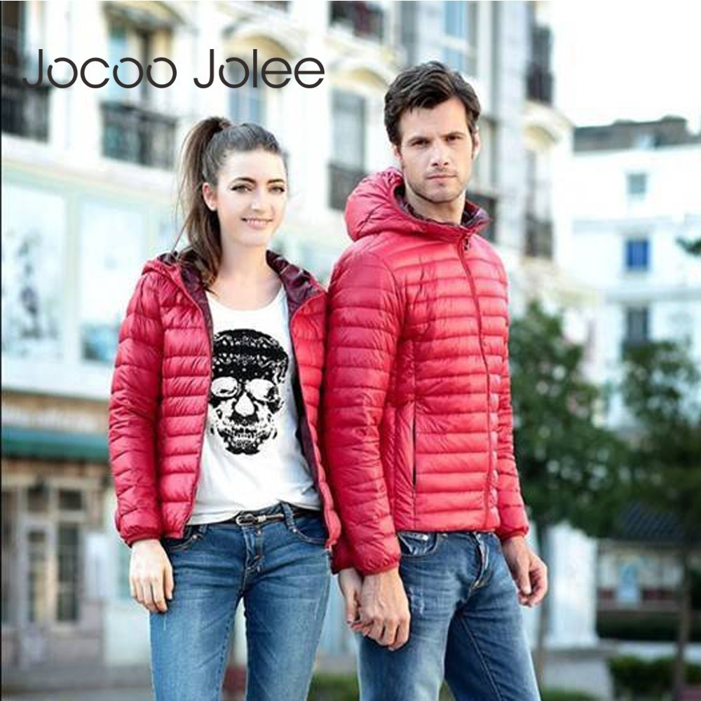 Jocoo Jolee Women   Basic     Jacket   Casual Down Coat 2018 Autumn Winter Female Slim Hooded Cotton Coats Harajuku Outwear Plus Size