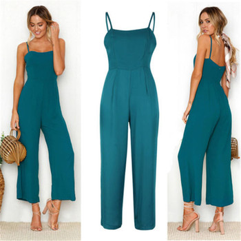 Women Casual Bodysuits Womens Fashion Slim Sleeveless Pants Suspender Trousers Jumpsuit Casual Rompers 6