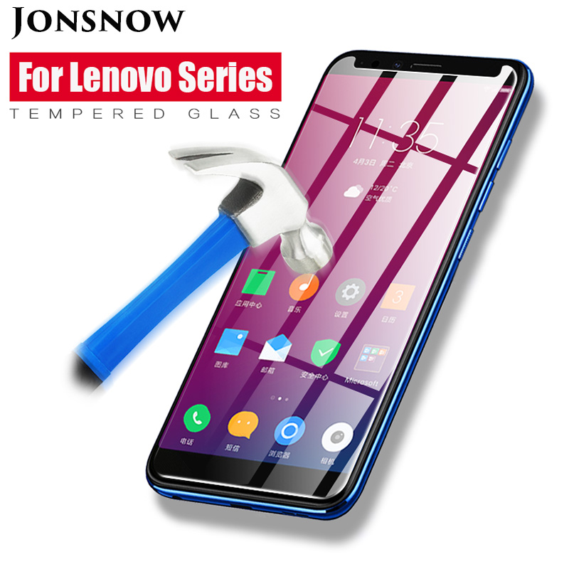 JONSNOW Tempered Glass For Lenovo K5 Play A5 K320t K6 Power 9H Protective Film Screen Protector for Lenovo L38011 L18011 K33A42