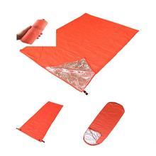 Спальный мешок для кемпинга с теплоизоляцией, для походов на открытом воздухе, походов, походов, приключений, аварийных ситуаций, спасательных одеял, двойной спальный мешок для взрослых