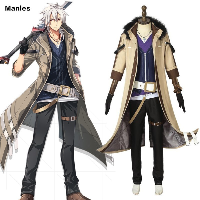 Anime The Legend Of Heroes Eiyuu Densetsu Sen no Kiseki Costume Crow Armbrust Carnival Adult Halloween Custom Made Full Uniform