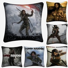 Rise Of The Tomb Raider Game Cotton Linen Cushion Cover For Sofa Seat Car 45x45cm Throw Pillow Case Home Decor Almofada цена и фото