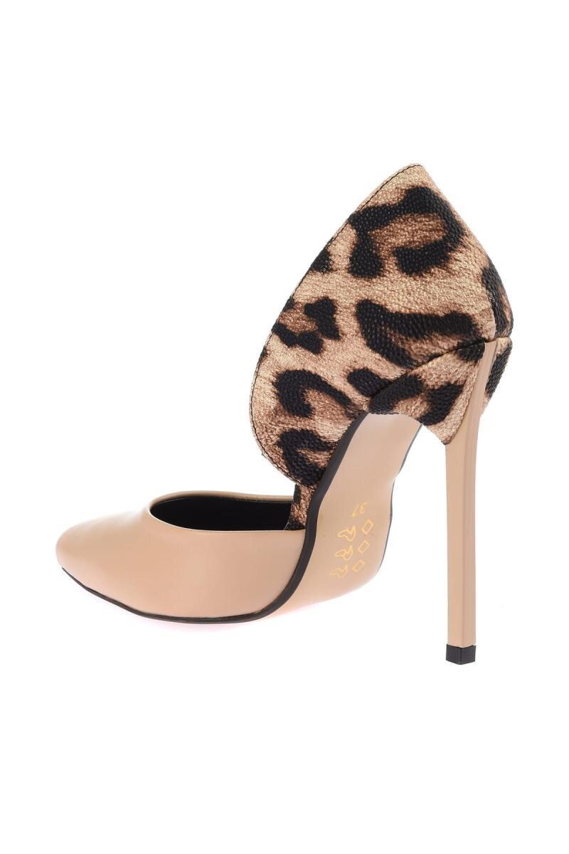 Diez Leopardo Tacón 12568 Alto Soho Mujeres Zapatos Las De dwAWUqEO