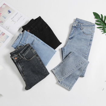 Spring Summer High Waist Jeans Woman Skinny Jeans Femme Stretch Ladies Pencil Denim Pants Trousers For Women 2019 jeans for women embroidery high waist jeans woman blue denim pencil pants stretch waist trousers for women high waist jeans